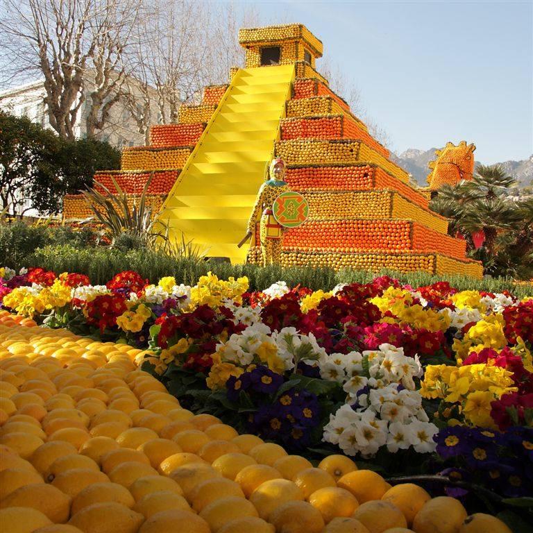 Festa dei Limoni_Carnevale di Mentone_piramide