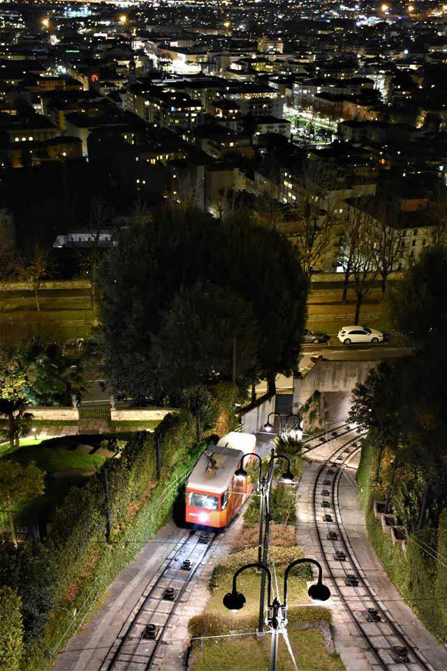 Mura di Bergamo- Funicolare di Città Alta